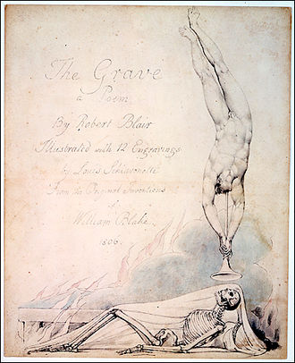 Robert Blair (poet) - 'The Skeleton Reanimated', one of William Blake's illustrations for The Grave
