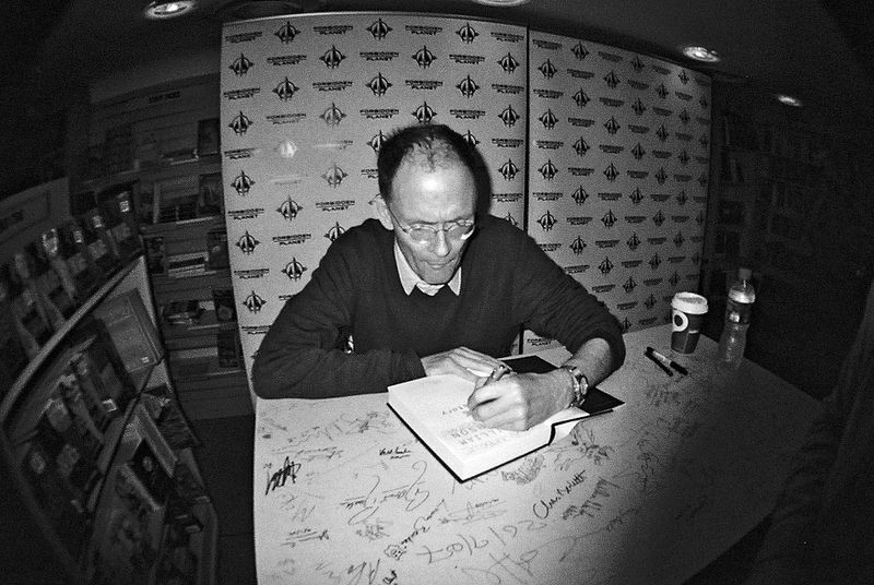 William Gibson Zero History signing at Forbidden Planet London.jpg