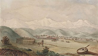 William Rich Hutton - Los Angeles from the South, by W. R. Hutton, 1848