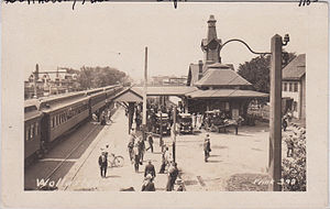 Wollaston (MBTA station) - The 1877-built station on an early postcard