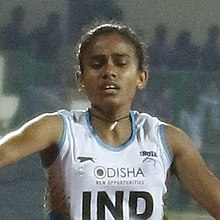 Women's 4x400m Debashree Mazumdar Of India (cropped).jpg