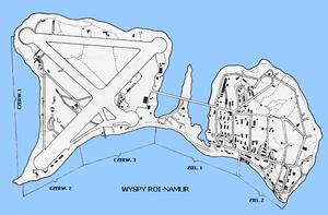 Roi-Namur - Image: Wyspy Roi Namur mapa