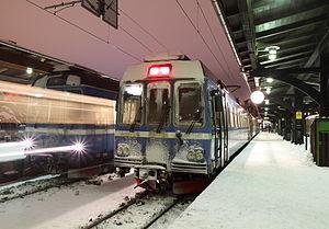 Roslagsbanan - Stockholm Ö in winter