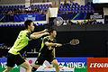 Yonex IFB 2013 - Quarterfinal - Liu Xiaolong - Qiu Zihan vs Mathias Boe - Carsten Mogensen 15.jpg