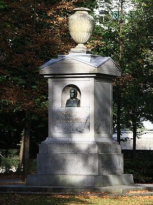 Salomon Gessner - Memorial at Platzspitz Park in Zürich