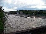 Zdymadla Štvanice, povodeň 2013-06-05 (01).jpg