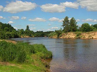 Luga River - Image: Zelezo 4