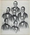 Zentralbibliothek Solothurn - CONSEIL FÉDÉRAL SUISSE - Furrer, Druey, Ochsenbein, Munzinger, Naeff, Franscini, Frey-Hérosé - aa0262.tiff