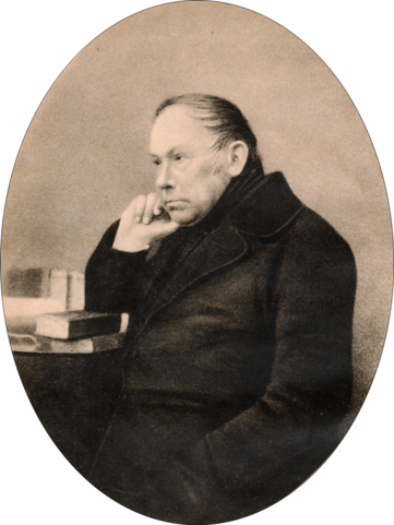 В.&nbsp;А.&nbsp;Жуковский. <i>Дагерротип 1850 или 1851 года. Опубликован в «Вестнике Европы» (1902, май)</i>