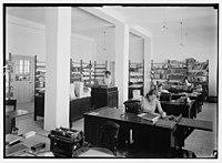 Zionist activities in Palestine. The Hebrew University Library. Recording room. LOC matpc.02654.jpg