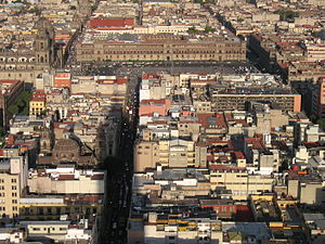 English: Zócalo and surroundings as seen from ...