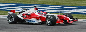 2005 United States Grand Prix - As Ralf Schumacher was injured, Ricardo Zonta qualified the Toyota instead of him.