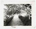 """Belmont,"" Gari Melchers house, 224 Washington Street, Fredericksburg, Virginia. Arbor at the Long Walk LCCN2008680010.jpg"