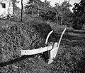 """""""Sevčedur"""" (plug), star, lesen; perot iz """"bande"""" (tanjša pločevina), Medana 1953.jpg"""