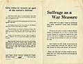 """Suffrage as a War Measure"" New York State Suffrage Party, October 1917.jpg"