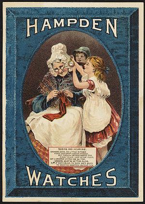 Dueber-Hampden Watch Company - 19th Century trade card for the company.
