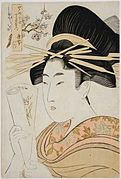 'Karagoto of the Brothel House Chojiya' by Utamaro, Honolulu Museum of Art.jpg