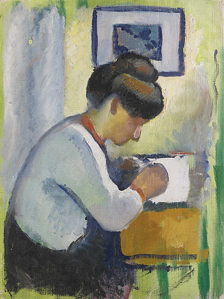 File:'Woman Writing' by August Macke, 1910.jpg