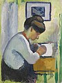 'Woman Writing' by August Macke, 1910.jpg
