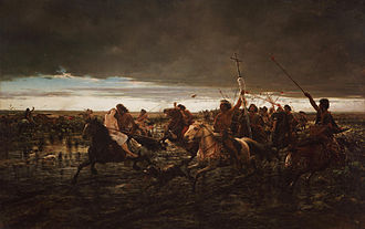 Cattle raiding - La vuelta del malón (The Return of the Raiders) by Ángel Della Valle (1892).