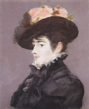 Menard Art Museum - Image: Édouard Manet Portrait de Jeanne Martin au Chapeau orné d'une Rose