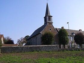 L'église d'Aymeries.