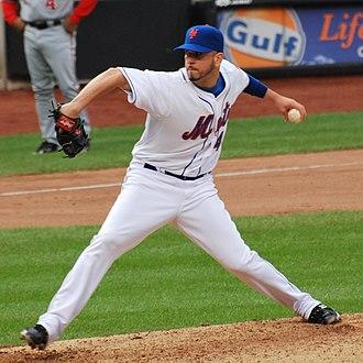 Óliver Pérez - Pérez pitching for the New York Mets in 2010