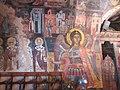 Архангел Михаил на восточной стене церкви Успения Богородицы в Асклипио.JPG