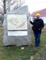 Пам'ятник Паустовському у селі Санжійка.png