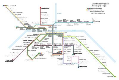 Схема маршруток г твери