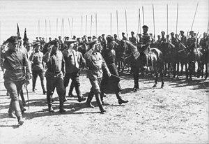 Alexander Yegorov (military) -  Yegorov with Trotsky In Kharkiv, 1919