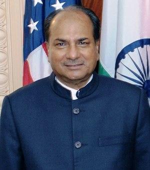 Second Manmohan Singh ministry - Image: എ.കെ. ആന്റണി