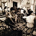 """Children In Naples, Italy"". Boys on cart. August 1944. U.S. Navy Photograph.jpg"
