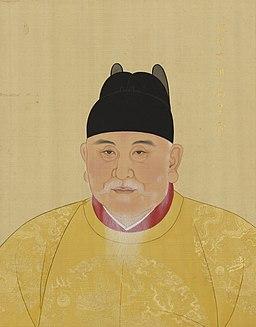 明太祖画像