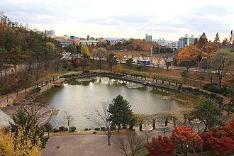 Chung-Ang University - Blue Dragon Pond on the Anseong campus