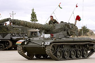 Bolivian Army - SK-105 Kürassier 19 ton light tank with 105mm gun in oscillating turret