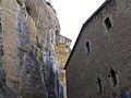 048 Casa del priorat de Sant Miquel del Fai, façana nord, vora el cingle.JPG