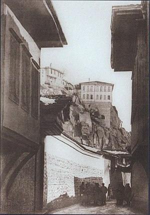 Battle of Philippopolis (1878) - View of one of the streets of Filipoppol (Plovdiv) after the liberation, January 1878