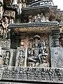 12th-century Shiva Parvati at Shaivism Hindu temple Hoysaleswara arts Halebidu Karnataka India 2.jpg