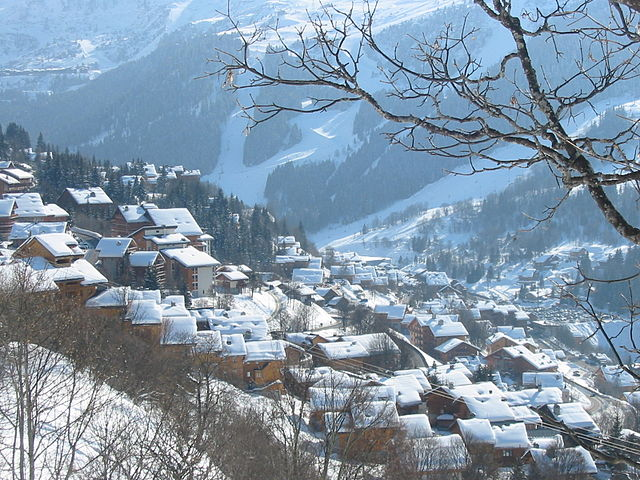 Méribel is a favorite ski resort for many skiers.