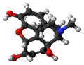 14-Hydroxymorphine molecule ball.png