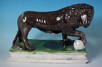 Staffordshire figures - Image: 1780 Ralph Wood Staffordshire Medici lion