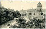 18006-Freiberg-1914-Postamt und Hornstraße-Brück & Sohn Kunstverlag.jpg