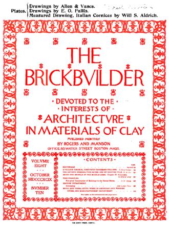 Architectural Forum - The Brickbuilder, 1899