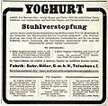 1911 Gebr. Hiller, Tetschen a. E, Annonce Yoghurt.jpg