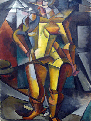 Lyubov Popova - The Model, 1913