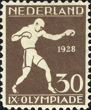 Boxing at the 1928 Summer Olympics - Boxing at the 1928 Summer Olympics on a stamp of the Netherlands