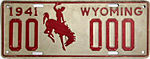 1941 Wyoming sample license plate.jpg