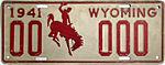 1941 Wyoming sample license plate.jpg