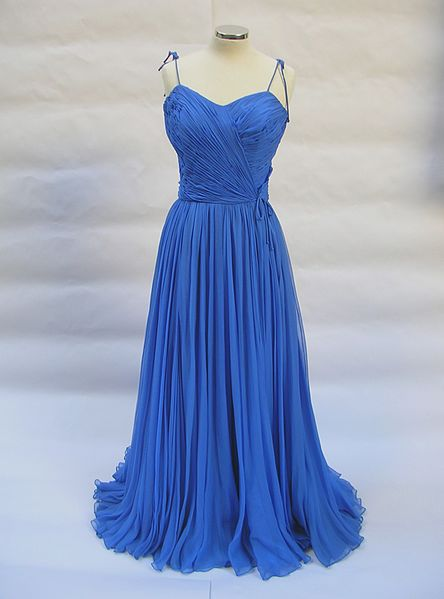 File:1950 Jean Dessès evening dress in blue silk mousseline.jpg